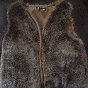 Topshop fur vest